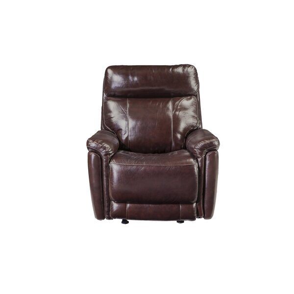 Monty Leather Reclining Sofa by Red Barrel Studio