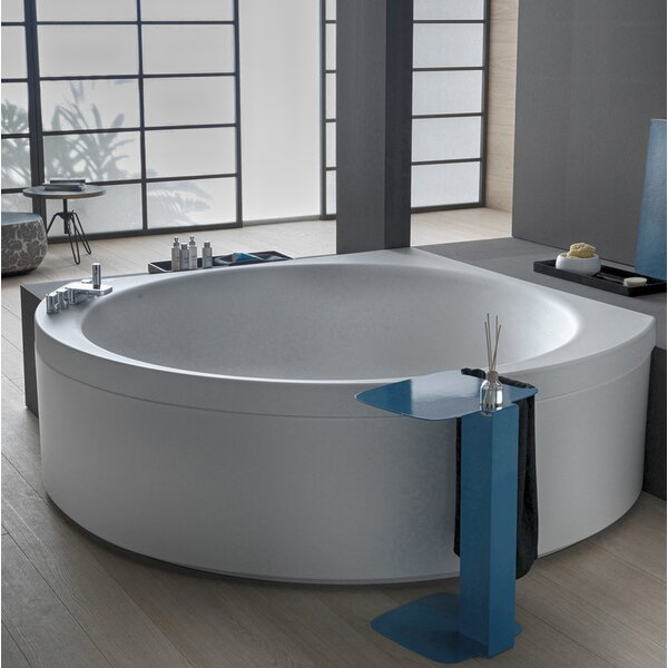 Suri Relax 67 x 67 Corner Bathtub by Aquatica