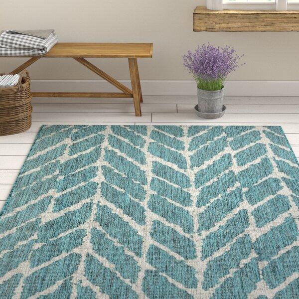 Briaca Teal Indoor/Outdoor Area Rug by Wrought Studio