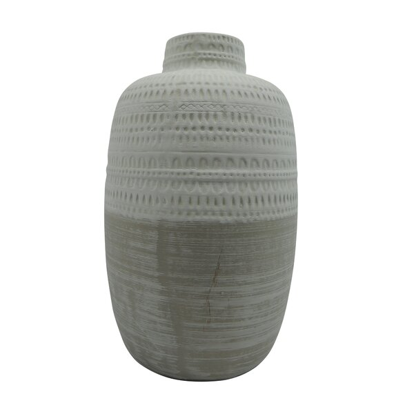 Carlile Ceramic Tribal Table Vase by Union Rustic