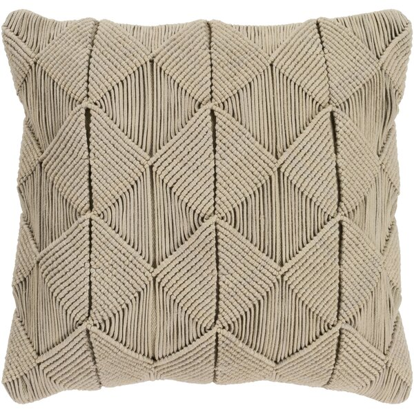 Westerville Natural Cotton Throw Pillow by Bungalow Rose