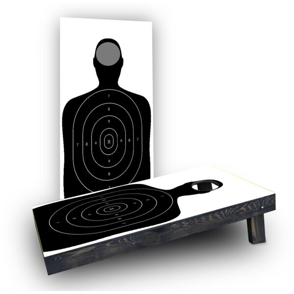 Gun Range Target Cornhole Boards (Set of 2) by Custom Cornhole Boards