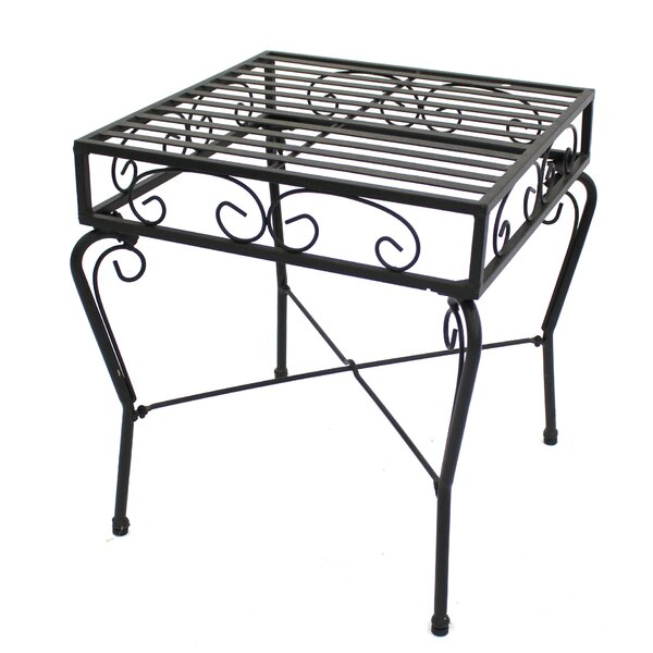 Marlys Powder Coated Steel Side Table by Fleur De Lis Living