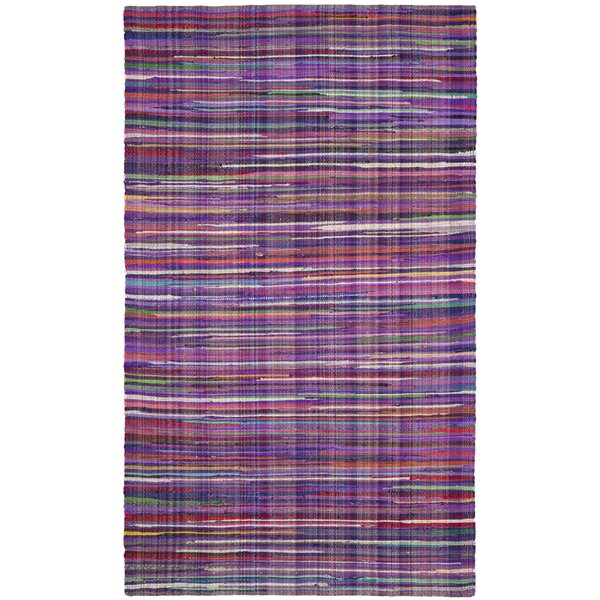 Shatzer Hand-Woven Purple Area Rug by Wrought Studio