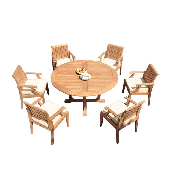 Kaan 7 Piece Teak Dining Set by Rosecliff Heights