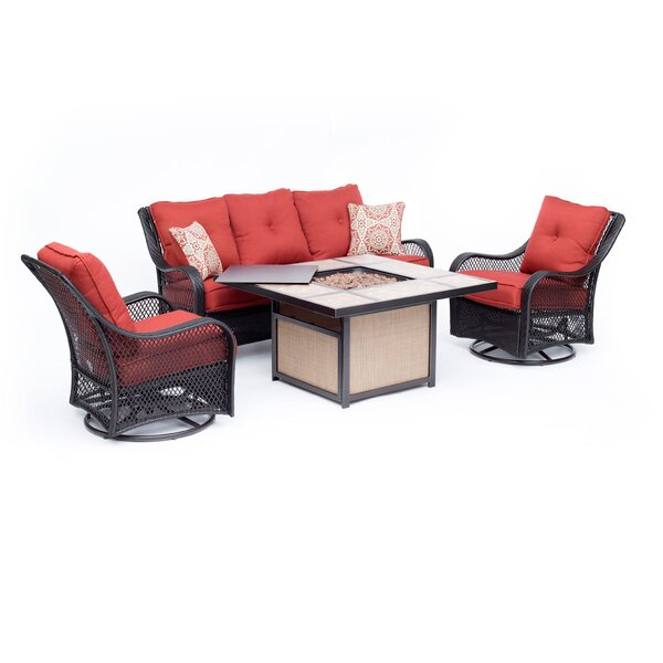 Innsbrook 4 Piece Sofa Seating Group by Alcott Hill