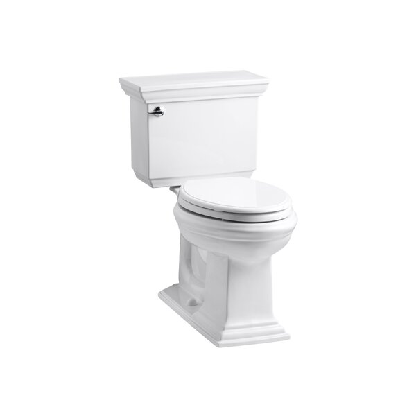 Memoirs Stately Stately Comfort Height 1.28 GPF Elongated Two-Piece Toilet by Kohler