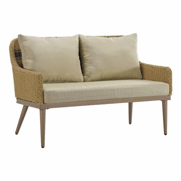 Wynn Patio Loveseat with Cushions by Bayou Breeze Bayou Breeze