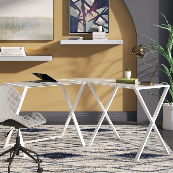 Ferro L-Shape Corner Desk by Wrought Studio