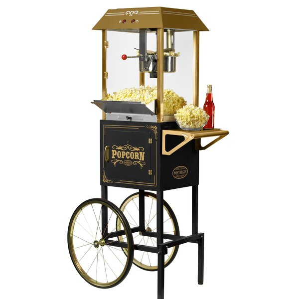 10 oz. Kettle Popcorn Cart by Nostalgia