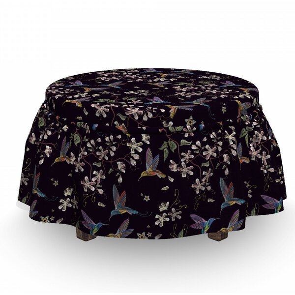 Hummingbirds Ottoman Slipcover (Set Of 2) By East Urban Home
