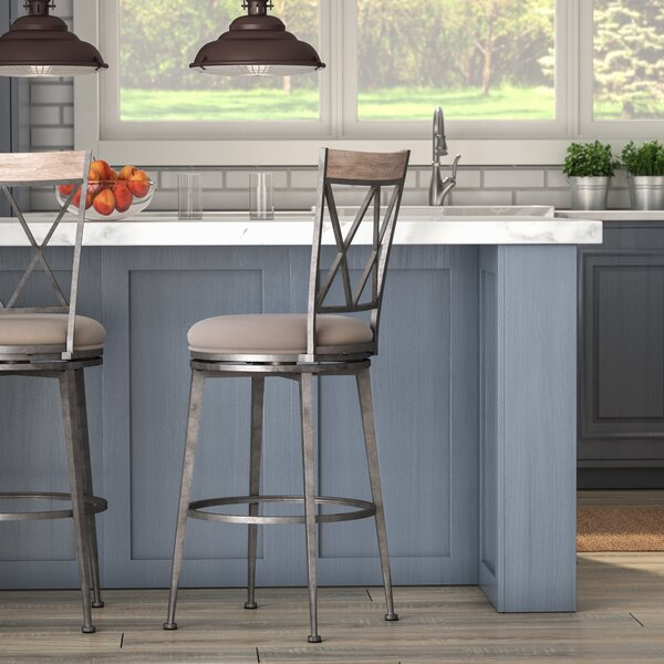 Allain 26 Swivel Indoor/Outdoor Patio Bar Stool by August Grove