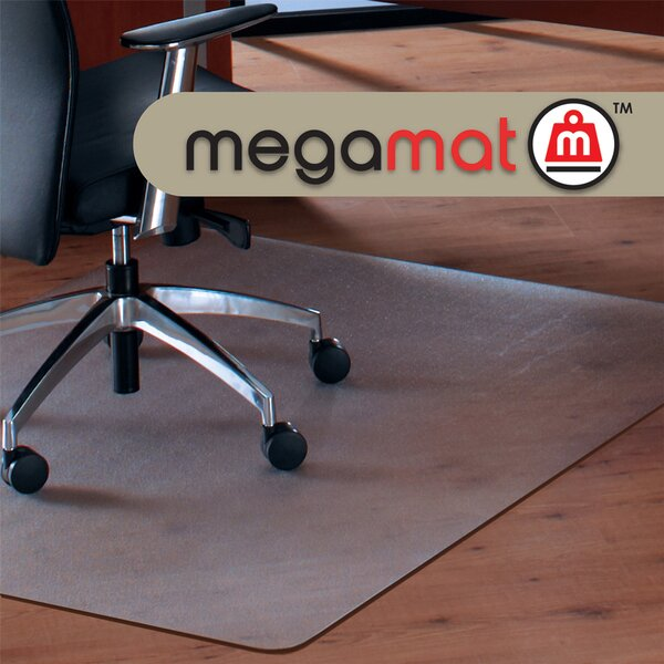 Cleartex Megamat Hard Floor Straight Edge Chair Mat by Floortex