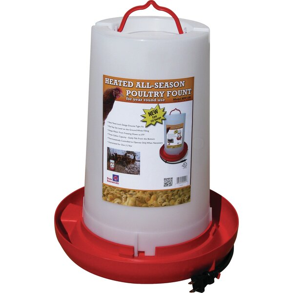 Heated Plastic Poultry Fount by Farm Innovators