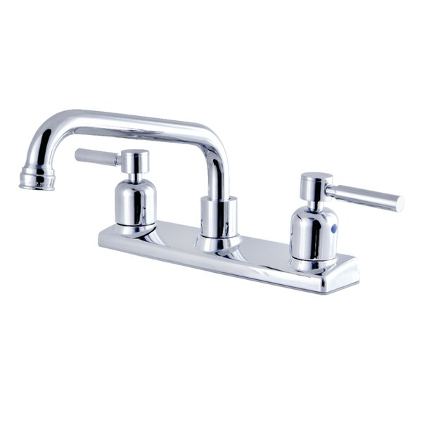 Concord Pull Out Double Handle Kitchen Faucet by Kingston Brass