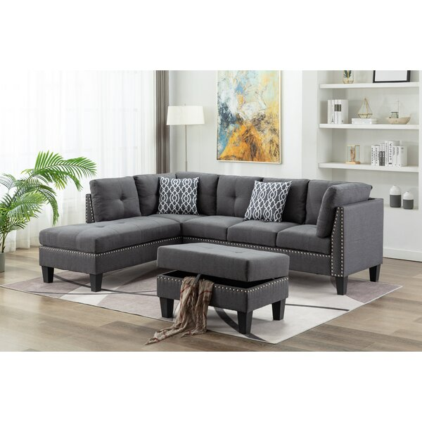 Spriggs Modular Sectional With Ottoman By Alcott Hill