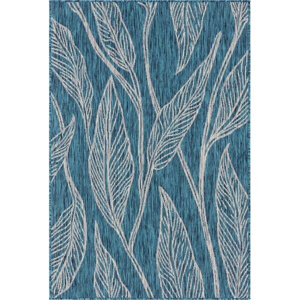 Kwiatkowski Blue/Beige Indoor/Outdoor Area Rug by Bungalow Rose