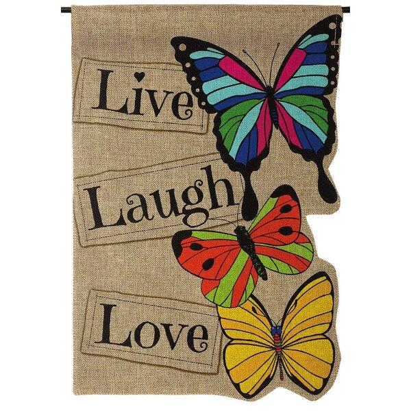 Live Laugh Love Garden Flag by Evergreen Enterprises, Inc