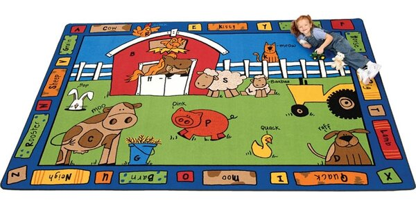 Camila Alphabet Farm Kids Rug by Zoomie Kids