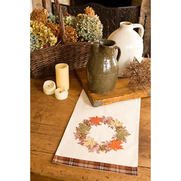 Maple Wreath Fall Table Runner by Xia Home Fashions