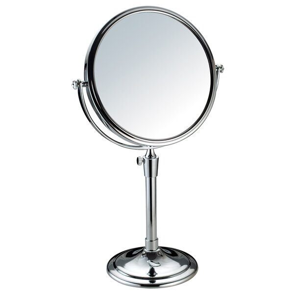 Round Double Sided Table Top Swivel Cosmetic Makeup Mirror by Adeco Trading
