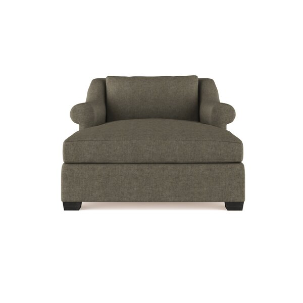 Auberge Vintage Leather Chaise Lounge by Canora Grey