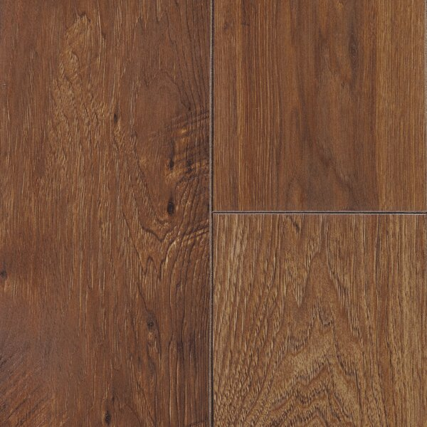 Restoration 6'' x 51'' x 12mm Hickory Laminate Flooring in Gunstock by Mannington
