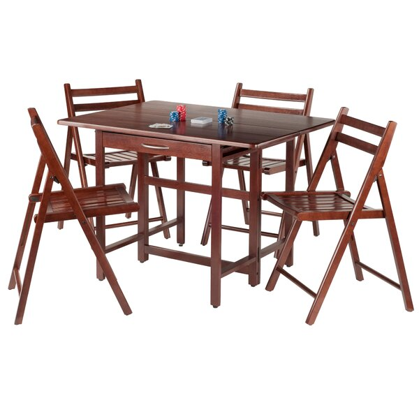 Culley 5 Piece Drop Leaf Dining Set by Red Barrel Studio