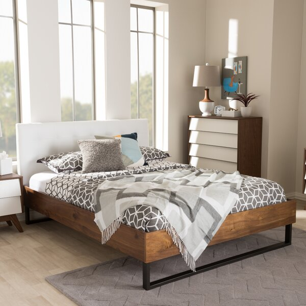Haffey Upholstered Platform Bed by Wrought Studio