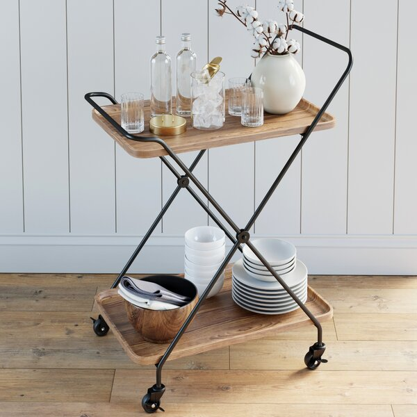 Fairport Retro Bar Cart By Wrought Studio