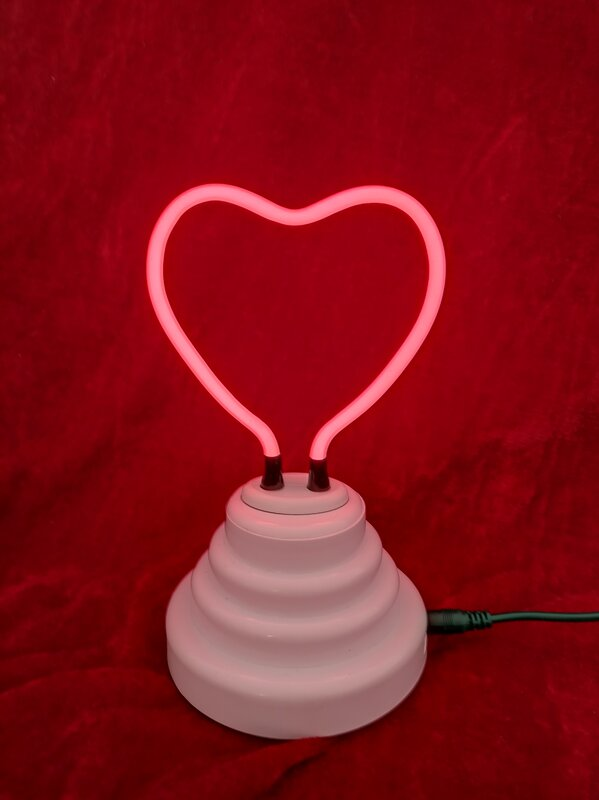 Heart Neon Table Lamp