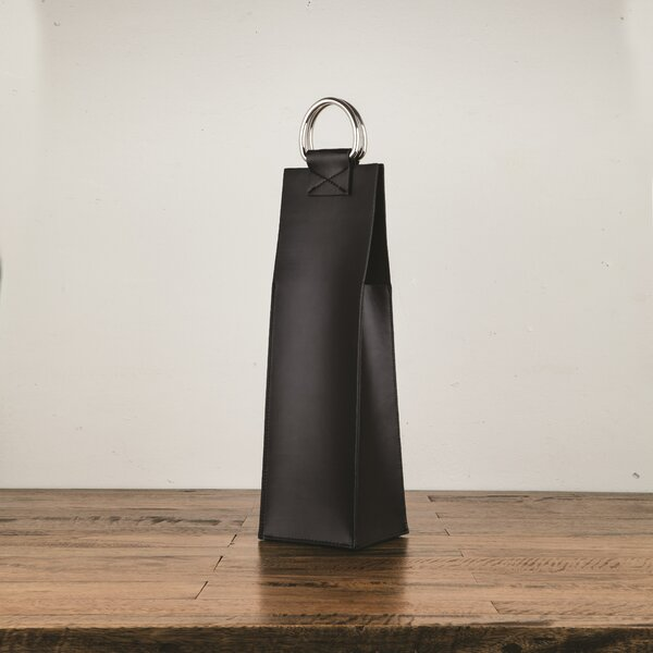 Admiral Metal/Faux Leather Wine Tote by Viski