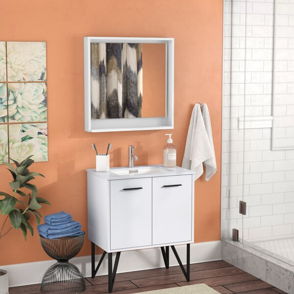 Almaraz 30 Single Bathroom Vanity Set with Mirror by Langley Street
