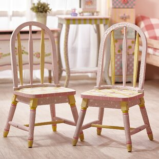 Crackled Rose Kids Desk Chair (Set of 2) ByFantasy Fields