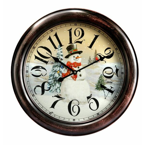 18 Snowman Wall Clock by Regency International