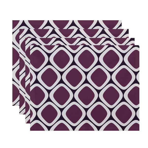 Sevier Geometric Placemat (Set of 4) by Mercury Row