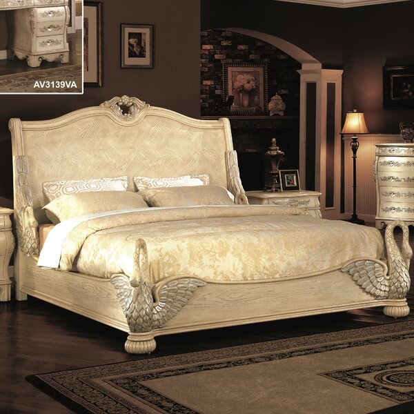 Zane Swan King Sleigh Bed by Astoria Grand