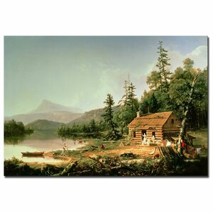 Home in the Woods, 1847 by Thomas Cole Painting Print on Wrapped Canvas by Trademark Fine Art