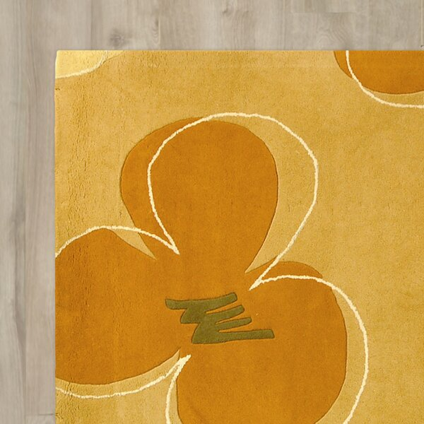 Chidi Hand-Tufted Gold / Assorted Area Rug by Ebern Designs