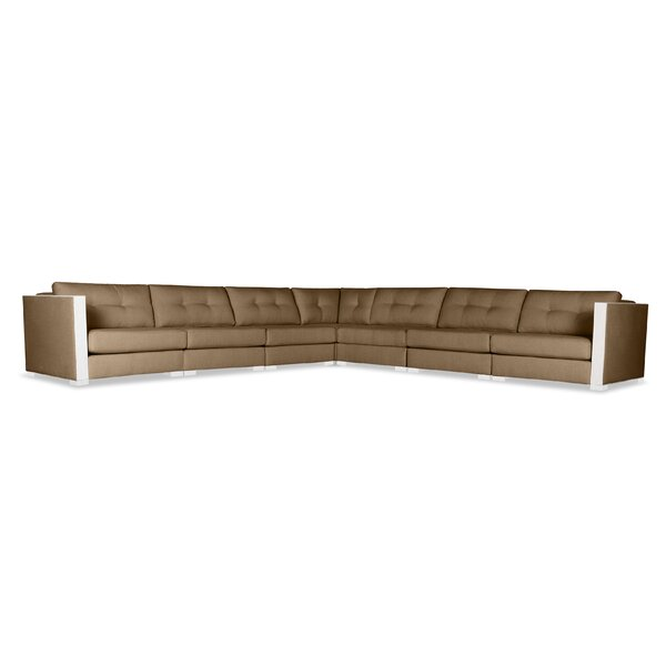 Steffi Buttoned Right and Left Arms L-Shape Modular Sectional by Orren Ellis