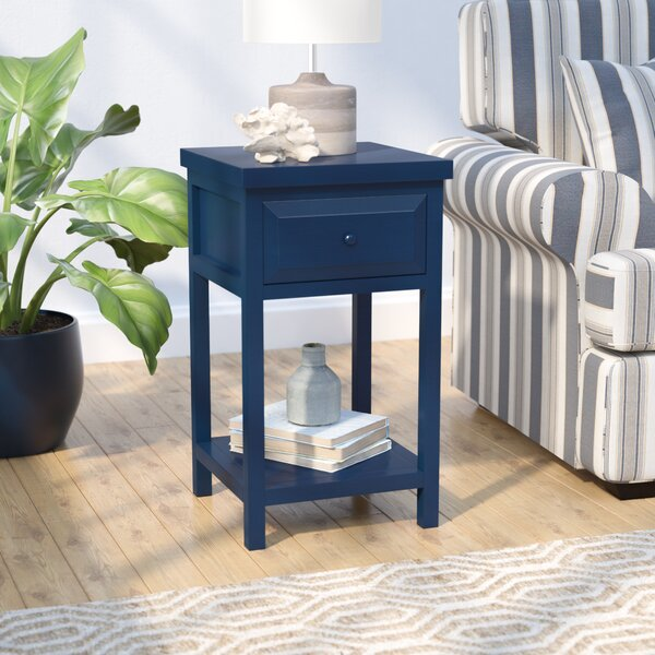 Maquoit End Table With Storage  By Beachcrest Home