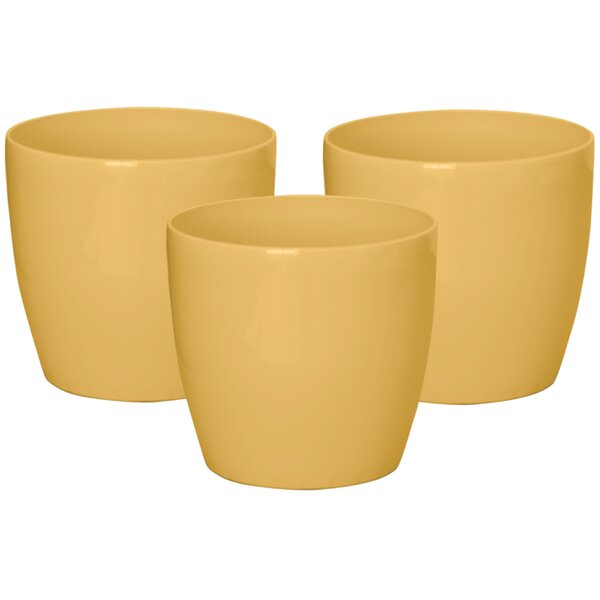 Topaz Plastic Pot Planter (Set of 3) by ALMI