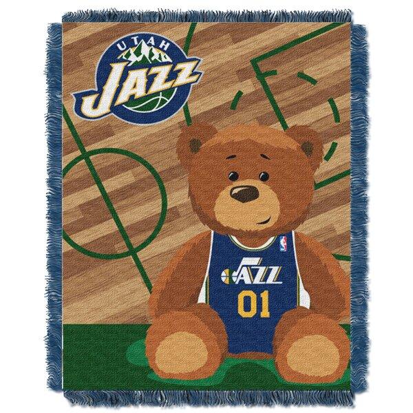 NBA Jazz Half Court Baby Blanket by Northwest Co.