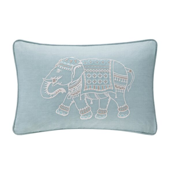 Dalila Embroidered Cotton Lumbar Pillow by Mistana