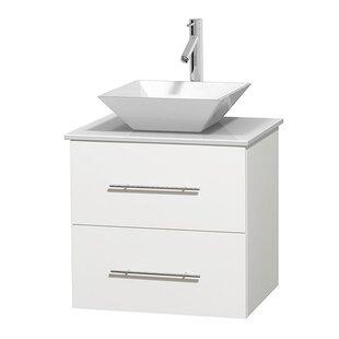 Savings Centra 24 Single Bathroom Vanity Set ByWyndham Collection
