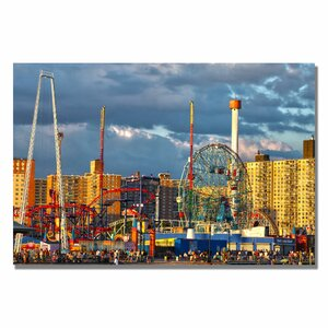 'Coney Island' by CATeyes Framed Photographic Print on Wrapped Canvas by Trademark Fine Art