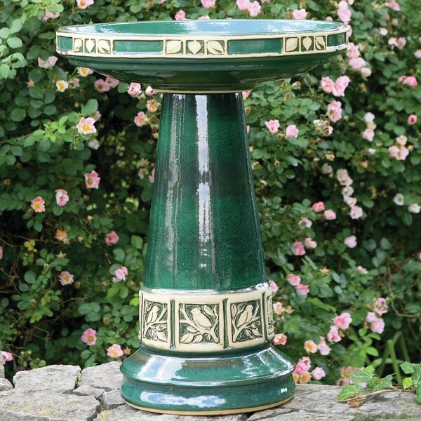 Burley Clay Zanesville Birdbath by Birds Choice