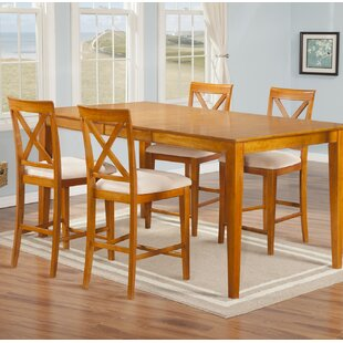 Crestwood 5 Piece Counter Height Solid Wood Dining Set By Andover Mills