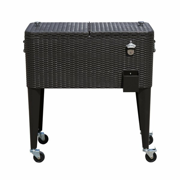 80 Qt. Patio Rolling Cooler by HomCom