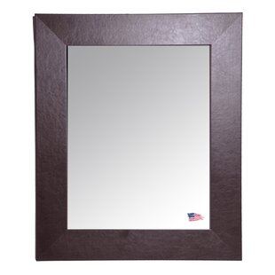Shop For Espresso Wide Leather Wall Mirror By Darby Home Co